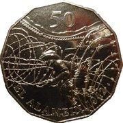 50 Cents - Elizabeth II (El Alamein) – reverse