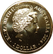 1 Dollar - Elizabeth II (4th Portrait - Year of the Horse) -  obverse
