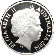 1 Dollar - Elizabeth II (4th Portrait - 30 Years Mob of Roos - Gold Plated) -  obverse