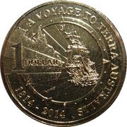 1 Dollar  - Elizabeth II (4th Portrait - A Voyage to Terra Australis) -  reverse