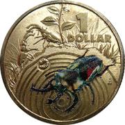 1 Dollar - Elizabeth II (4th Portrait - Bright Bug Series - Stag Beetle) – reverse