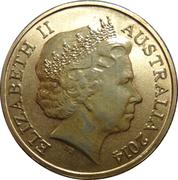 1 Dollar - Elizabeth II (4th Portrait - Bright Bug Series - Ulysses Butterfly) – obverse