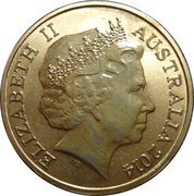 1 Dollar - Elizabeth II (4th Portrait - Bright Bug Series - Grasshopper) -  obverse
