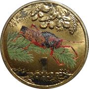 1 Dollar - Elizabeth II (4th Portrait - Bright Bug Series - Grasshopper) -  reverse