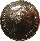 50 Cents - Elizabeth II (4th Portrait - Australians at War 05 - The Western Front) – obverse
