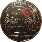 50 Cents - Elizabeth II (4th Portrait - Australians at War 05 - The Western Front) – reverse