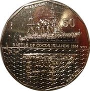 50 Cents - Elizabeth II (Battle of Cocos Islands) -  reverse