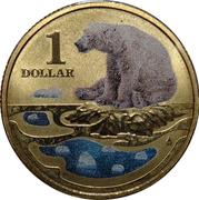 1 Dollar - Elizabeth II (4th Portrait - Polar Series - Polar Bear) -  reverse