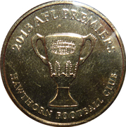 1 Dollar - Elizabeth II (4th Portrait - AFL Premiers Hawthorn 2013) -  reverse