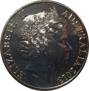 20 Cents - Elizabeth II (4th Portrait - Centenary of Australian Banknotes - 5 Pounds) -  obverse