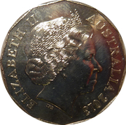 50 Cents - Elizabeth II (Firstborn Baby of the Duke and Duchess of Cambridge) -  obverse