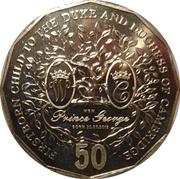 50 Cents - Elizabeth II (Firstborn Baby of the Duke and Duchess of Cambridge) -  reverse