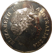 50 Cents - Elizabeth II (Lunar  Series Year of the Horse) -  obverse