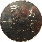50 Cents - Elizabeth II (4th Portrait - Lunar Year of the Horse) -  reverse