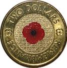 2 Dollars - Elizabeth II (Remembrance Day - Poppy Flower; Colourised) – reverse