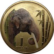 1 Dollar - Elizabeth II (4th Portrait - Asian Elephant) -  reverse