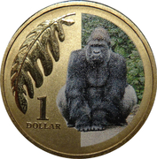1 Dollar - Elizabeth II (4th Portrait - Lowland Gorilla) -  reverse