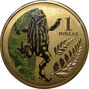 1 Dollar - Elizabeth II (4th Portrait - Corroboree Frog) -  reverse