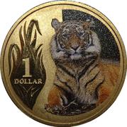 1 Dollar - Elizabeth II (4th Portrait - Sumatran Tiger) -  reverse