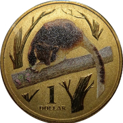 1 Dollar - Elizabeth II (4th Portrait - Tree Kangaroo) -  reverse