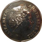 50 Cents- Elizabeth II (Shores Under Siege) -  obverse