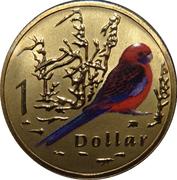 1 Dollar - Elizabeth II (4th Portrait - Crimson Rosella) -  reverse