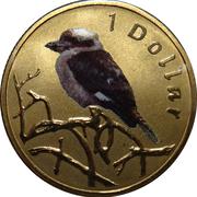 1 Dollar - Elizabeth II (4th Portrait - Kookaburra) -  reverse