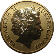 1 Dollar - Elizabeth II (4th Portrait - Major Mitchell Cockatoo) -  obverse