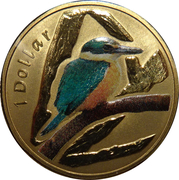 1 Dollar - Elizabeth II (4th Portrait - Sacred Kingfisher) -  reverse