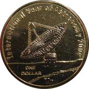1 Dollar - Elizabeth II (4th Portrait - International Year of Astronomy) -  reverse