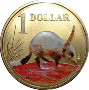 1 Dollar - Elizabeth II (4th portrait - Bilby) -  reverse