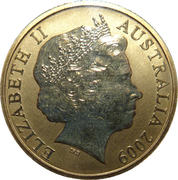1 Dollar - Elizabeth II (4th portrait - Frilled-Neck Lizard) -  obverse