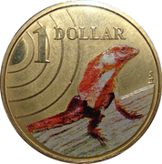 1 Dollar - Elizabeth II (4th portrait - Frilled-Neck Lizard) -  reverse