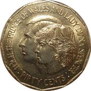 50 Cents - Elizabeth II (Royal Wedding) -  reverse