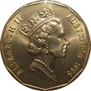 50 Cents - Elizabeth II (3rd Portrait - First Fleet Bicentenary) -  obverse