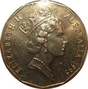 """50 Cents - Elizabeth II (Edward """"Weary"""" Dunlop) -  obverse"""