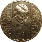 """50 Cents - Elizabeth II (Edward """"Weary"""" Dunlop) -  reverse"""