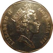 50 Cents - Elizabeth II (3rd Portrait - Bass & Flinders) -  obverse