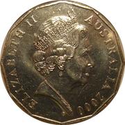 50 Cents - Elizabeth II (Royal Visit) 5th Portrait – obverse