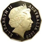 50 Cents - Elizabeth II (Millennium- colourised) -  obverse