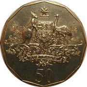 50 Cents - Elizabeth II (Federation Australia) -  reverse
