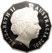 50 Cents - Elizabeth II (Federation - Colourised) -  obverse