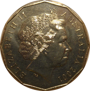 50 Cents - Elizabeth II (New South Wales) -  obverse