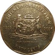 50 Cents - Elizabeth II (New South Wales) -  reverse