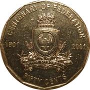 50 Cents - Elizabeth II (South Australia) -  reverse