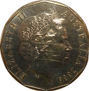 50 Cents - Elizabeth II (Athletics) -  obverse