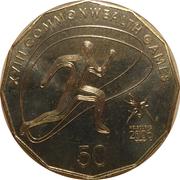 50 Cents - Elizabeth II (Athletics) -  reverse