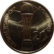 20 Cents - Elizabeth II (4th Portrait - Netball World Cup) -  reverse