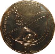 50 Cents - Elizabeth II (Aquatics) -  reverse