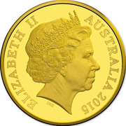 25 Dollars - Elizabeth II (4th Portrait - UNESCO Great Barrier Reef - Gold Bullion Coin) -  obverse